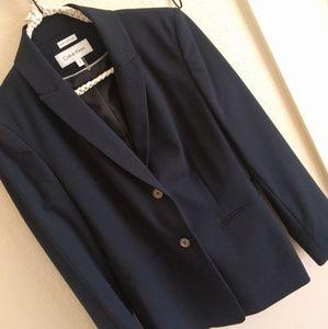 Calvin Klein Deep Navy Blue Suit Jacket Blazer Sz2